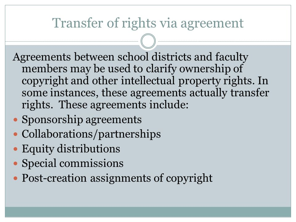 The Role Of Circumstances And Agreements In Determining Ownership Of