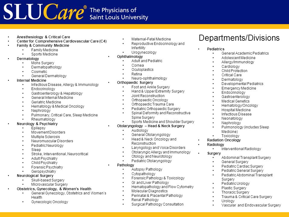 Faculty Orientation – SLUCare August Mission As the clinical arm of