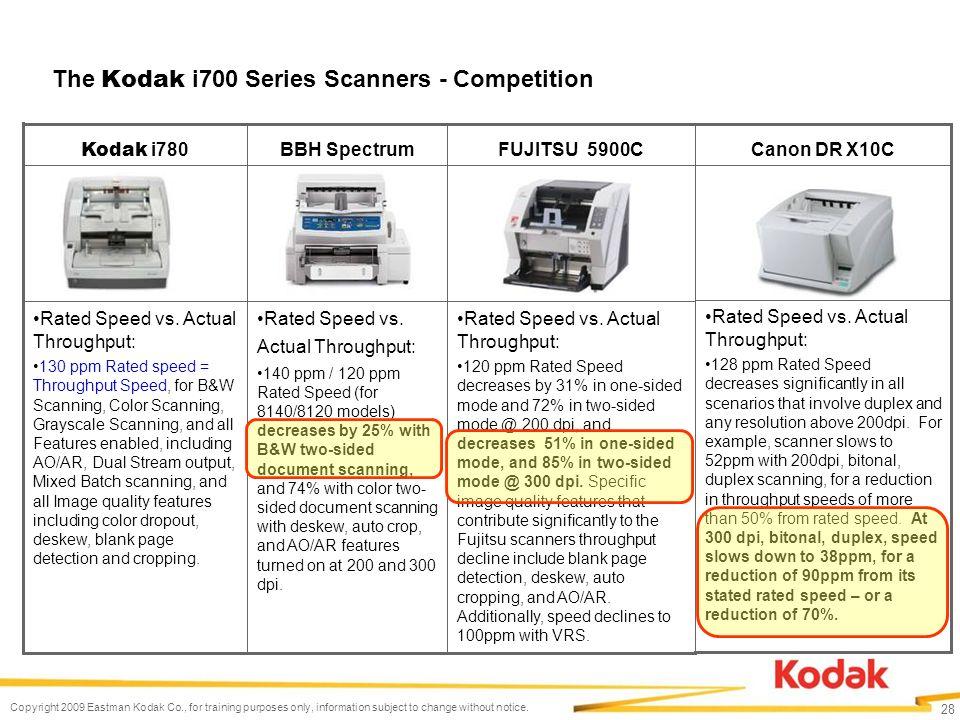 Copyright Kodak Kodak is a trademark  Kodak i700 Series