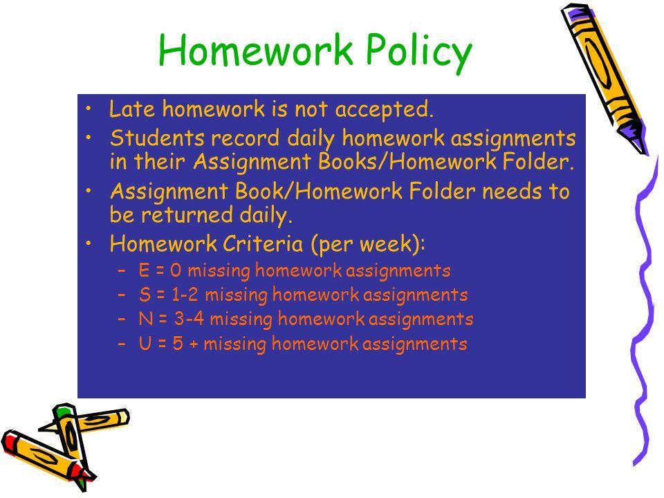 homework policy elementary