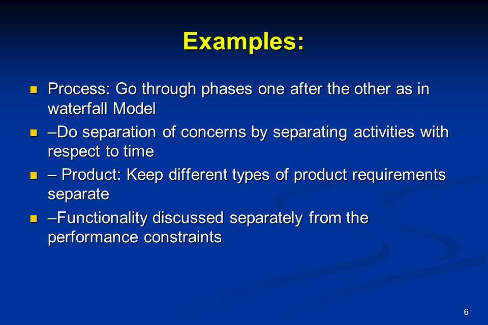 Software Engineering Principles Principles form the basis of