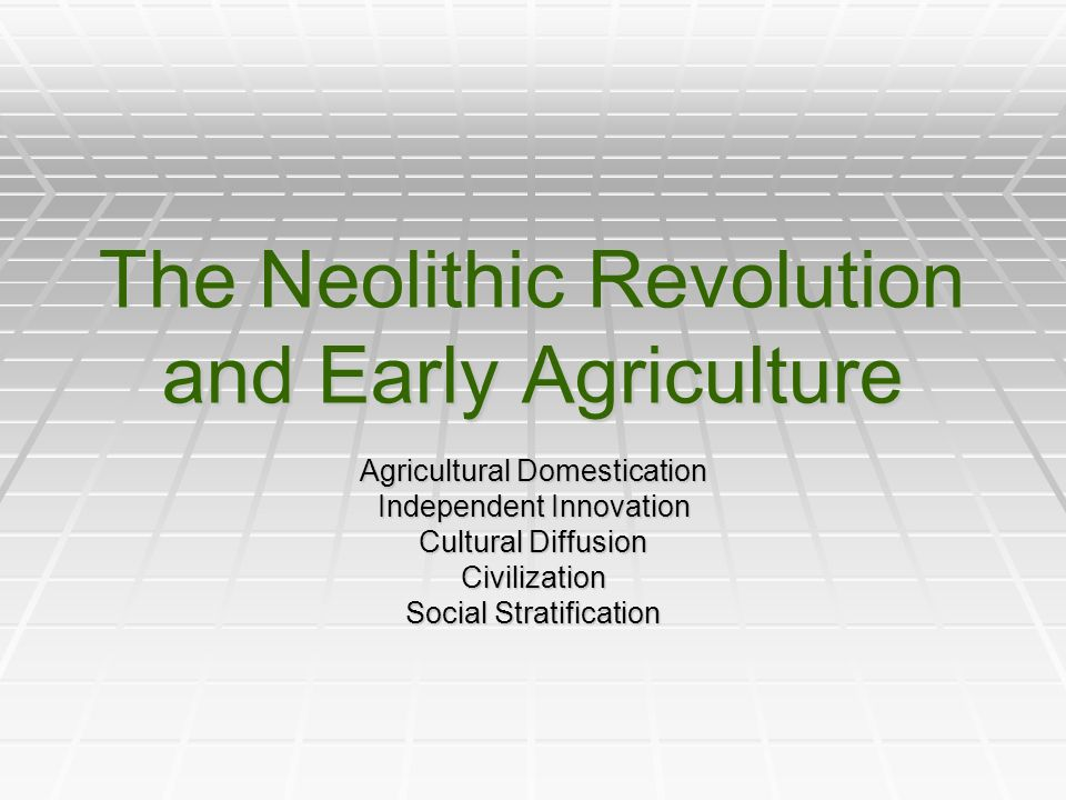 The Neolithic Revolution And Early Agriculture Agricultural   The Neolithic Revolution And Early Agriculture Agricultural Domestication  Independent Innovation Cultural Diffusion Civilization Social Stratification Essay On High School Dropouts also Science Essays  Apa Format College Papers For Sale