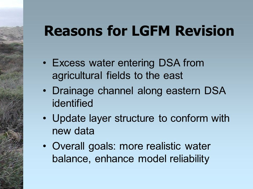 Local Groundwater Flow Model Addendum Guadalupe Restoration