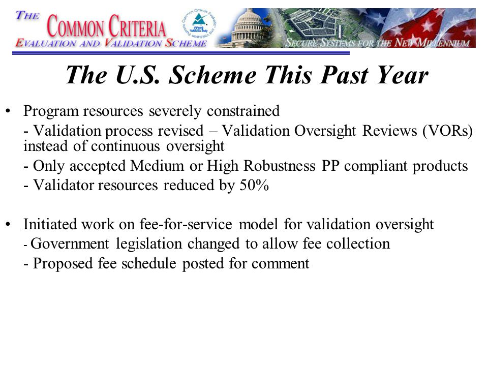U S  Common Criteria Evaluation & Validation Scheme (CCEVS