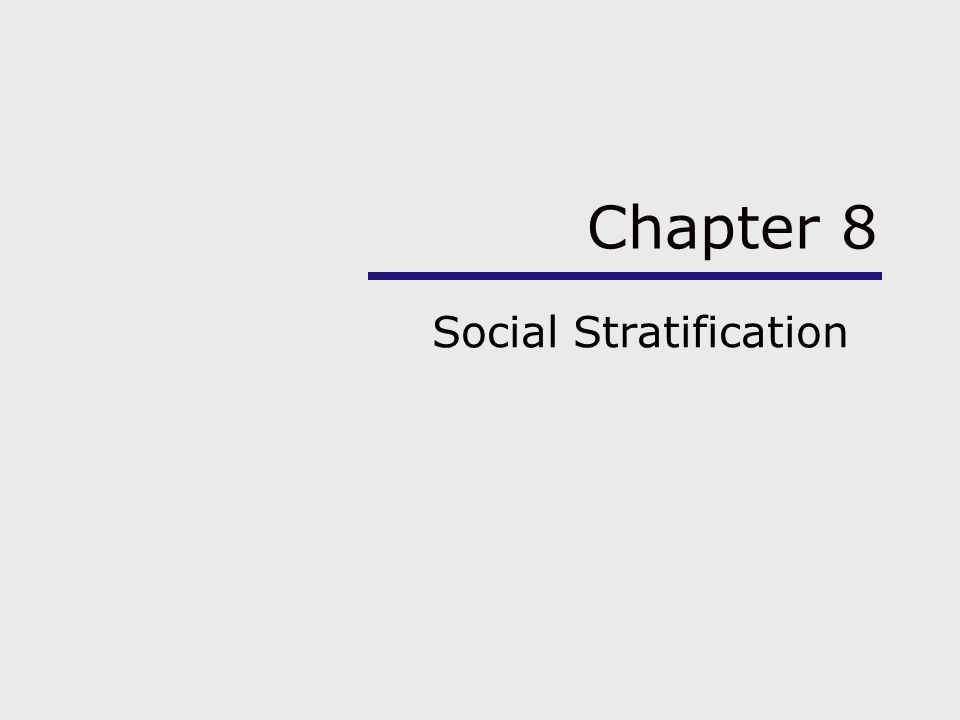 social stratification research topics