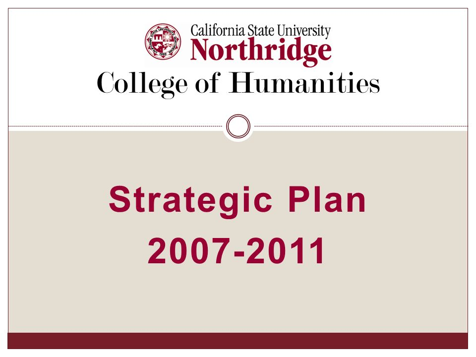 Strategic Plan College of Humanities