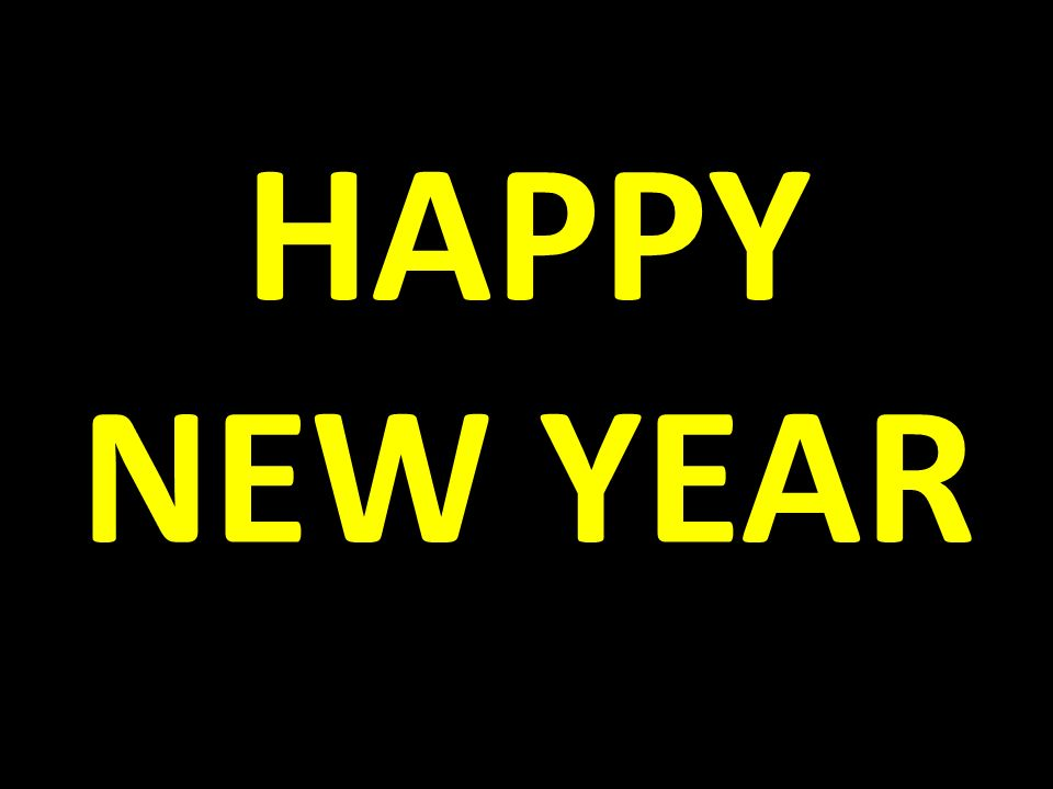 1 happy new year