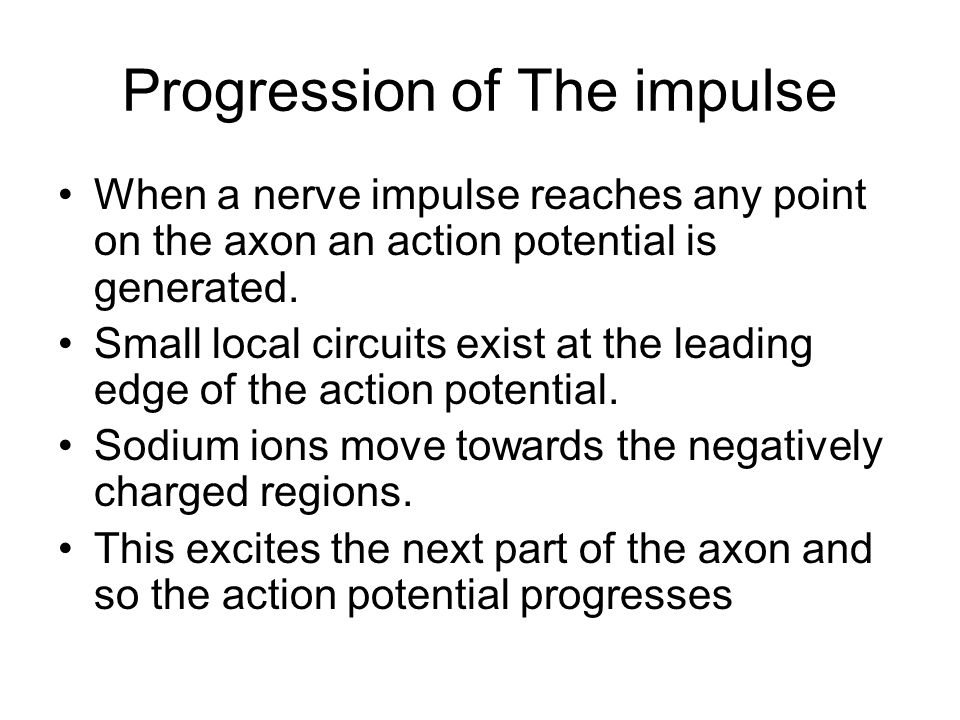 All or none response Above the threshold value, the size of the Action Potential ( A P ) remains constant, regardless of the size of the stimulus The size of the A P does not decrease as it is transmitted along the neuron but always remains the same