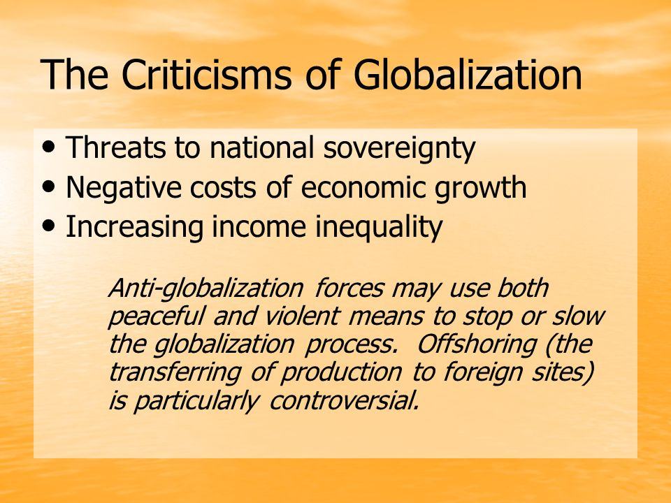 Criticisms of globalization