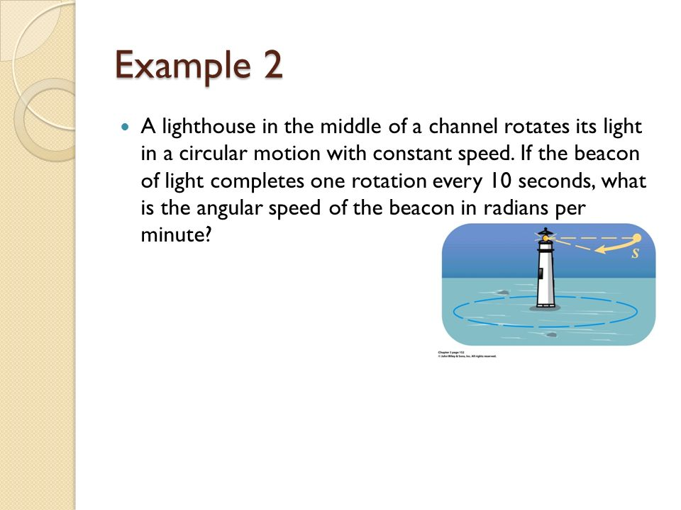 SECTION 3 3 EQ: How are linear and angular speeds calculated
