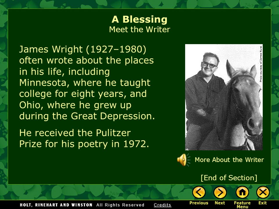 a blessing james wright