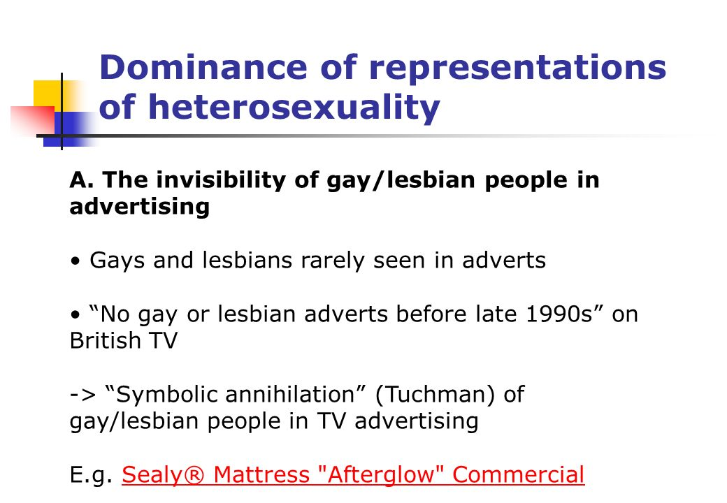 Cultural Studies Presentation 4 Representations Of Sexuality In Tv