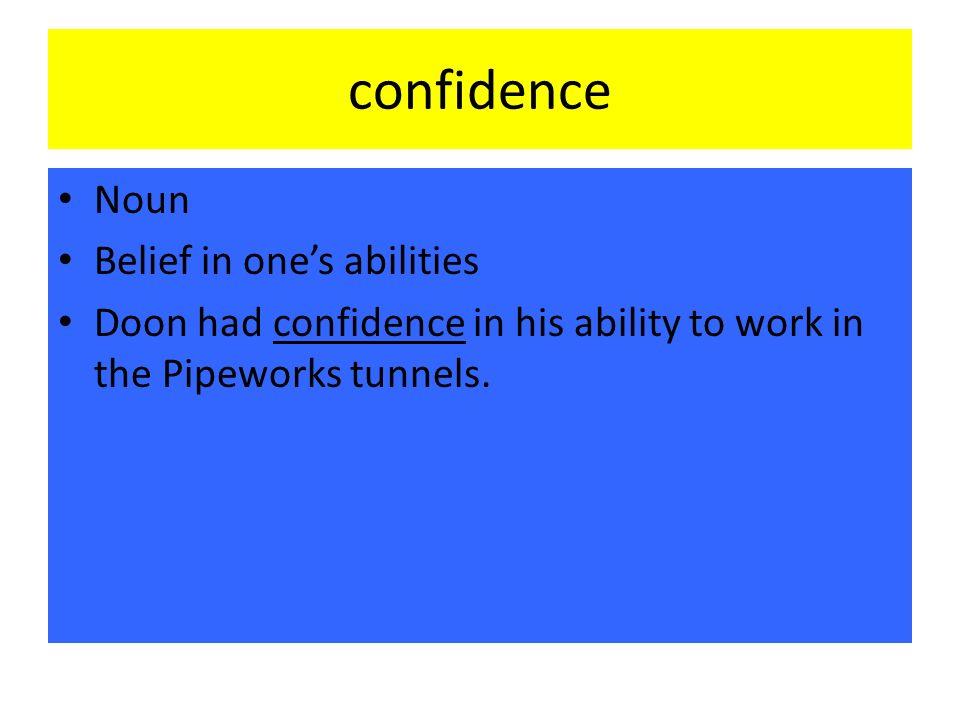 is confidence a noun