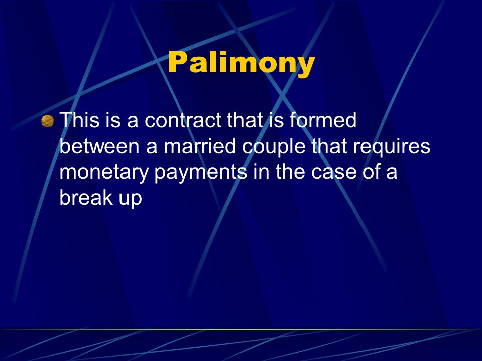 Legal Rights Of Single People Palimony This Is A Contract That Is