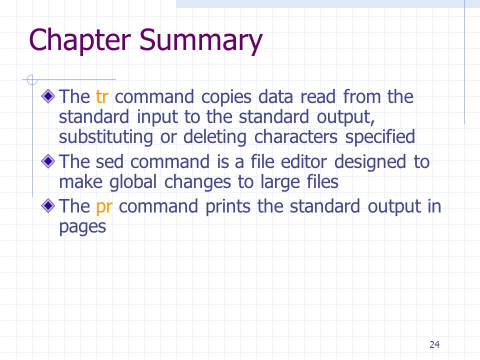 Chapter Five Advanced File Processing  2 Objectives Use the pipe