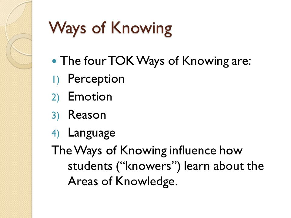 the four ways of knowing