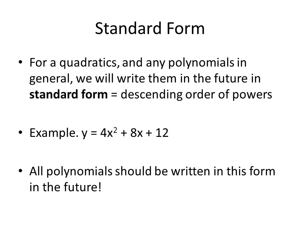 513 Standard Form Special Products Vertex For The Polynomial Y