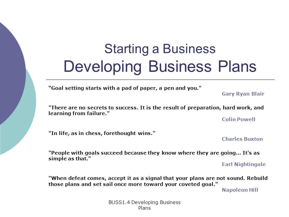 goals of a business plan