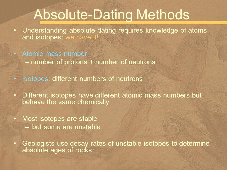 What do relative dating and absolute dating have in common jokes