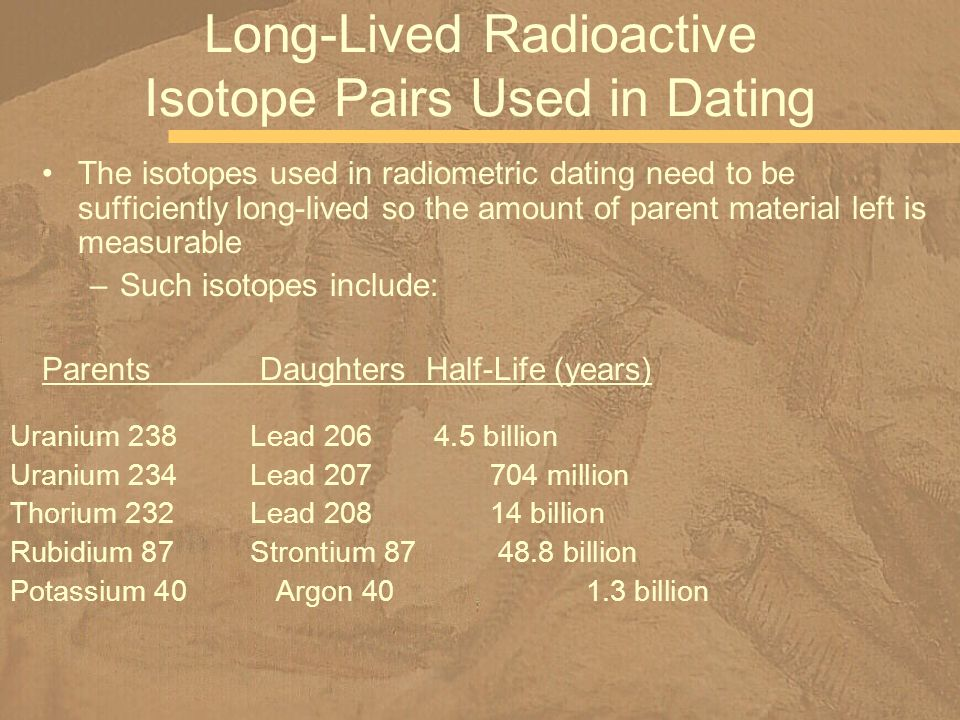 C1 is about 300,000 years, which makes it suitable for dating in the range of 1.