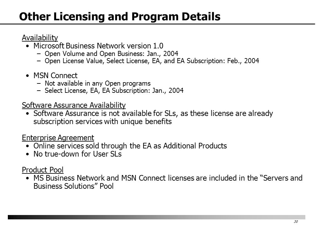 Introduction of Online Services into Volume Licensing Microsoft