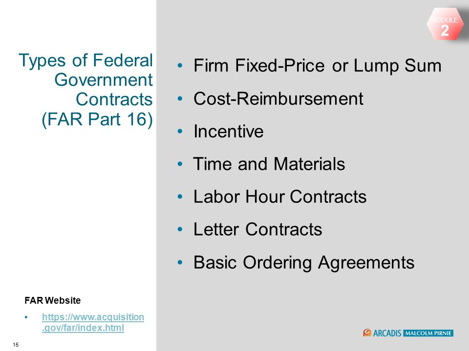 government acquisition contract requirements The federal acquisition regulation (far) is the principal set of rules in the federal acquisition regulations system regarding government procurement in the united states, and is codified at chapter 1 of title 48 of the code of federal regulations, 48 cfr 1.