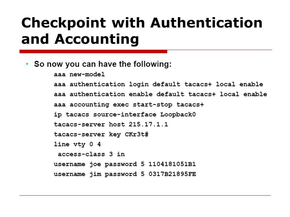 Staff AAA  Radius is not an ISP AAA Option RADIUS TACACS+ Kerberos