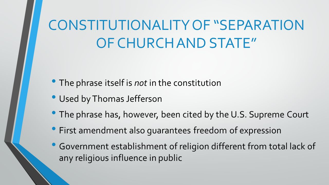 the separation of church and state debating jefferson's famous