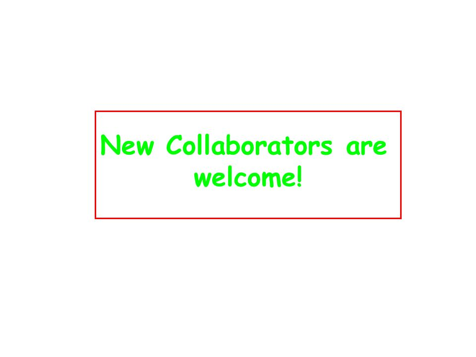 New Collaborators are welcome!