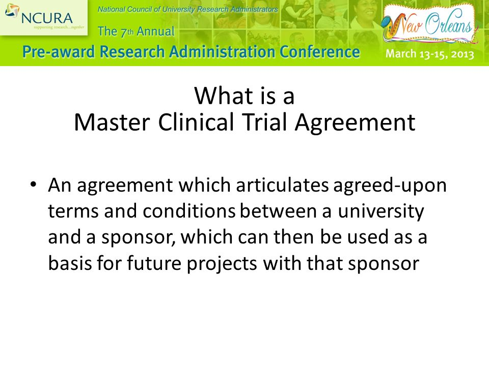 Negotiating And Implementing Master Clinical Trial Agreements