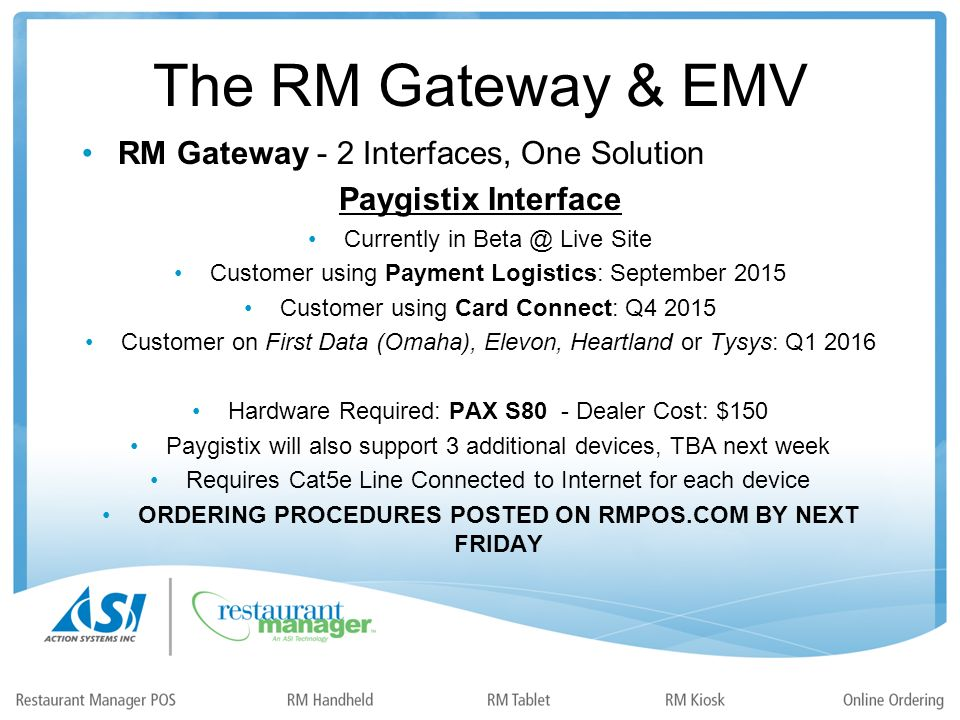 Selling EMV & The RM Gateway Host: Duane Owens A 2 nd Thursday