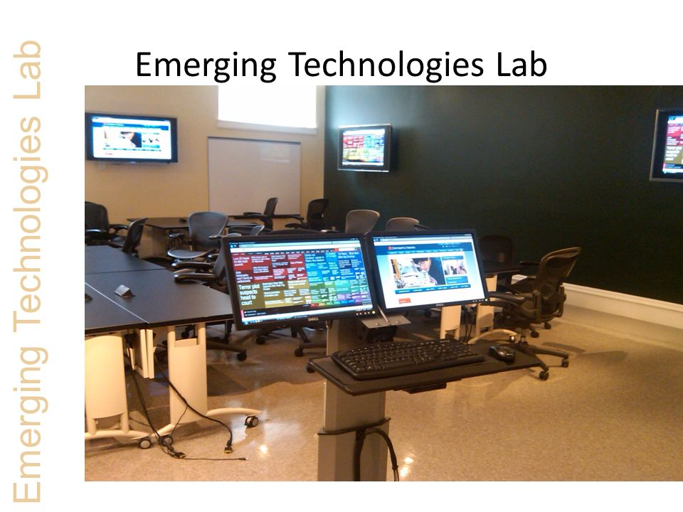Emerging Technologies Lab Flexible Lab Space Emerging Technologies Lab