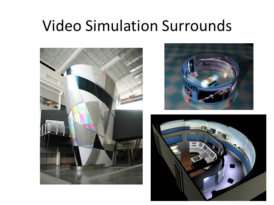 Video Simulation Surrounds