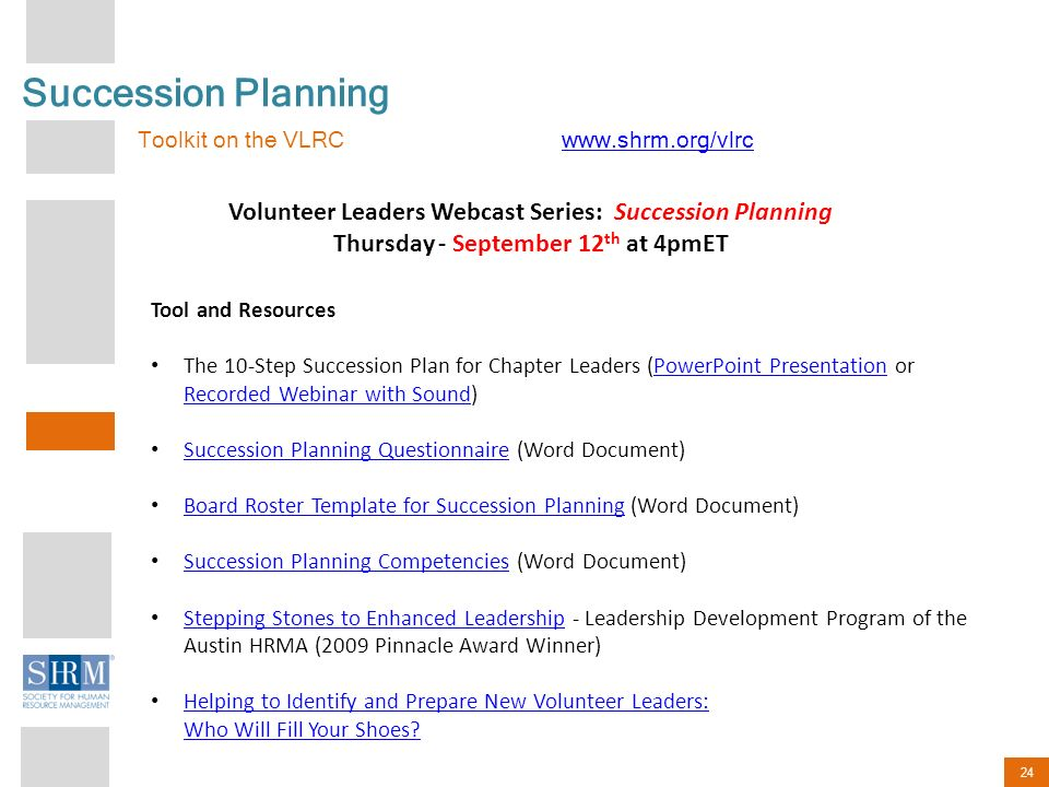 Southwest Central Region Chapter Presidents District Directors - Succession planning template shrm