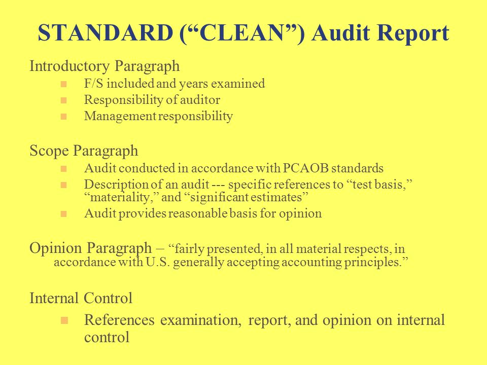 Chapter 12 Auditors' Reports The very existence of the