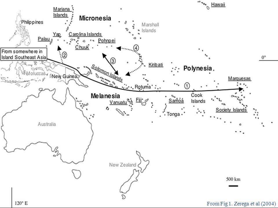breadfruit a tale of two domesticates outline artocarpus altilus Polynesia Map 1900 17 from fig 1 zerega et al 2004