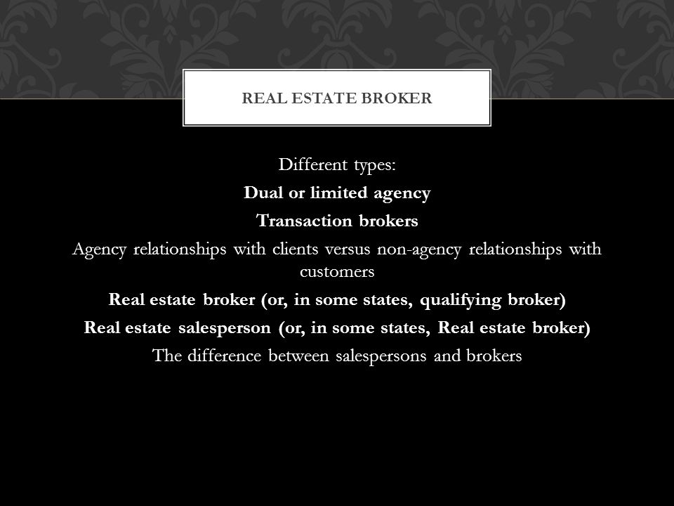 Real Estate 2 Diffe Types Dual