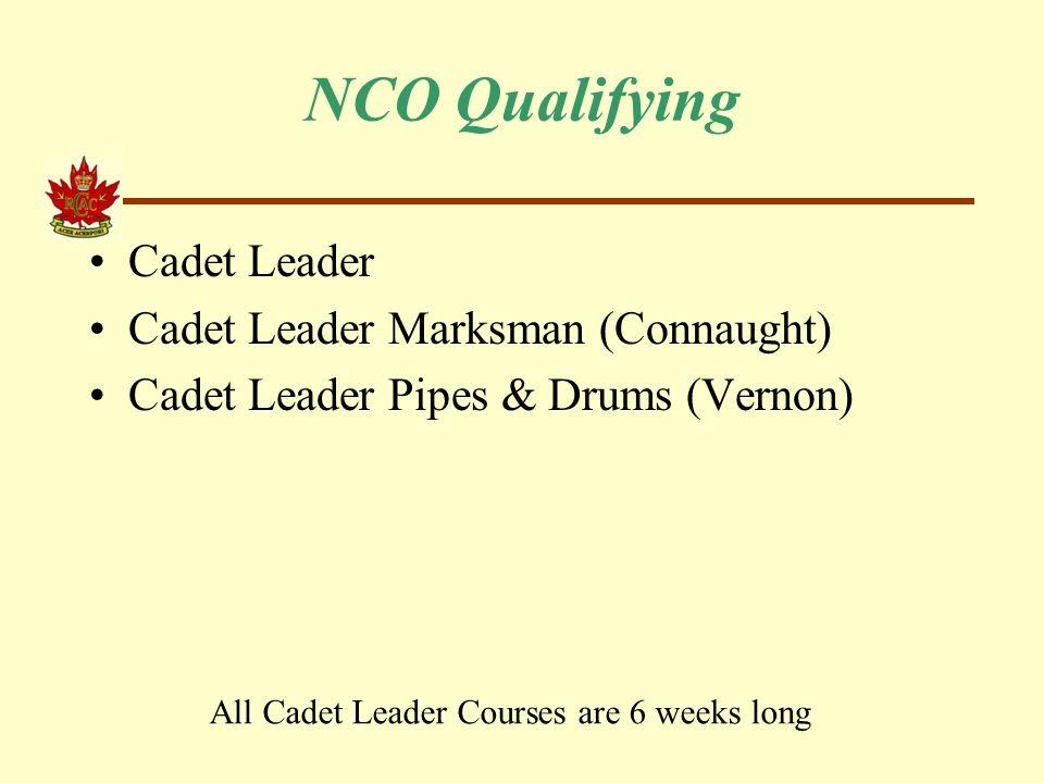Army Cadet Summer Training  NCO Qualifying Cadet Leader