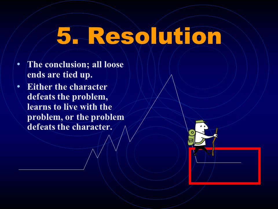 4. Falling Action Action that follows the climax and ultimately leads to the resolution
