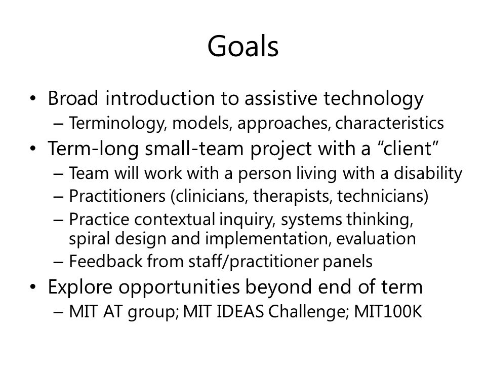6s196 Ppat Principles And Practice Of Assistive Technology