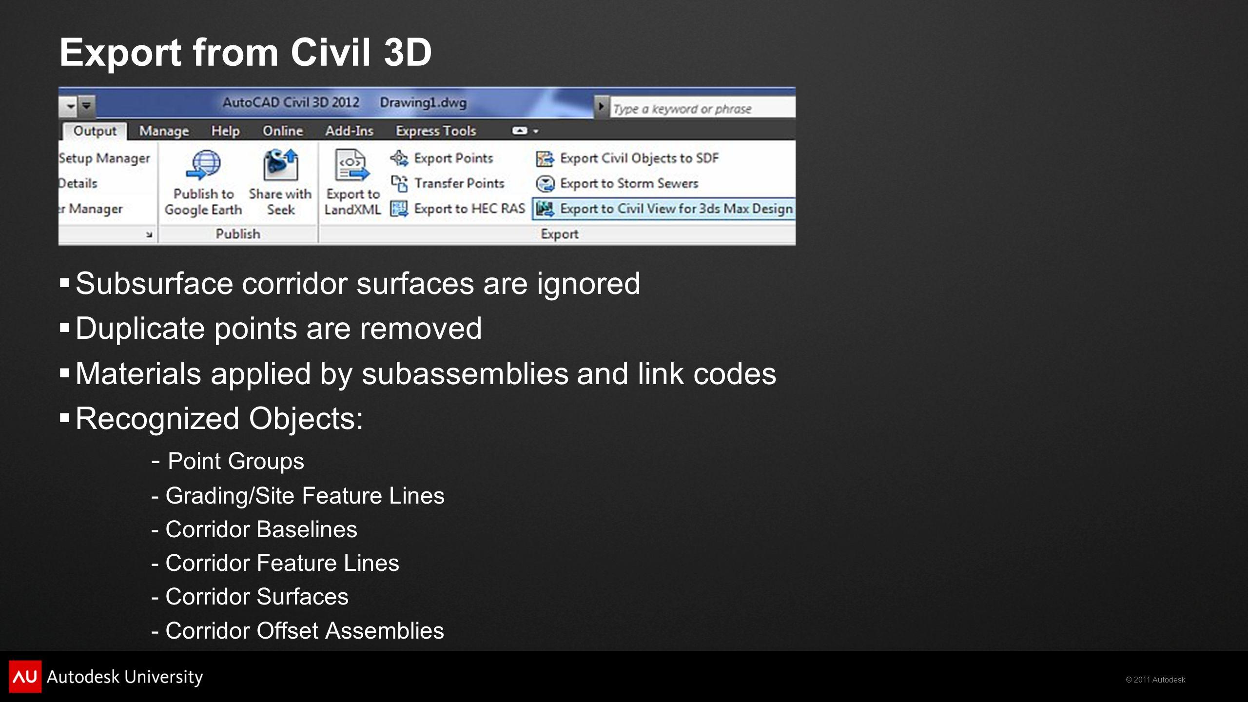 2011 Autodesk Making Dirt Look Good: Autodesk ® Civil View Kristina