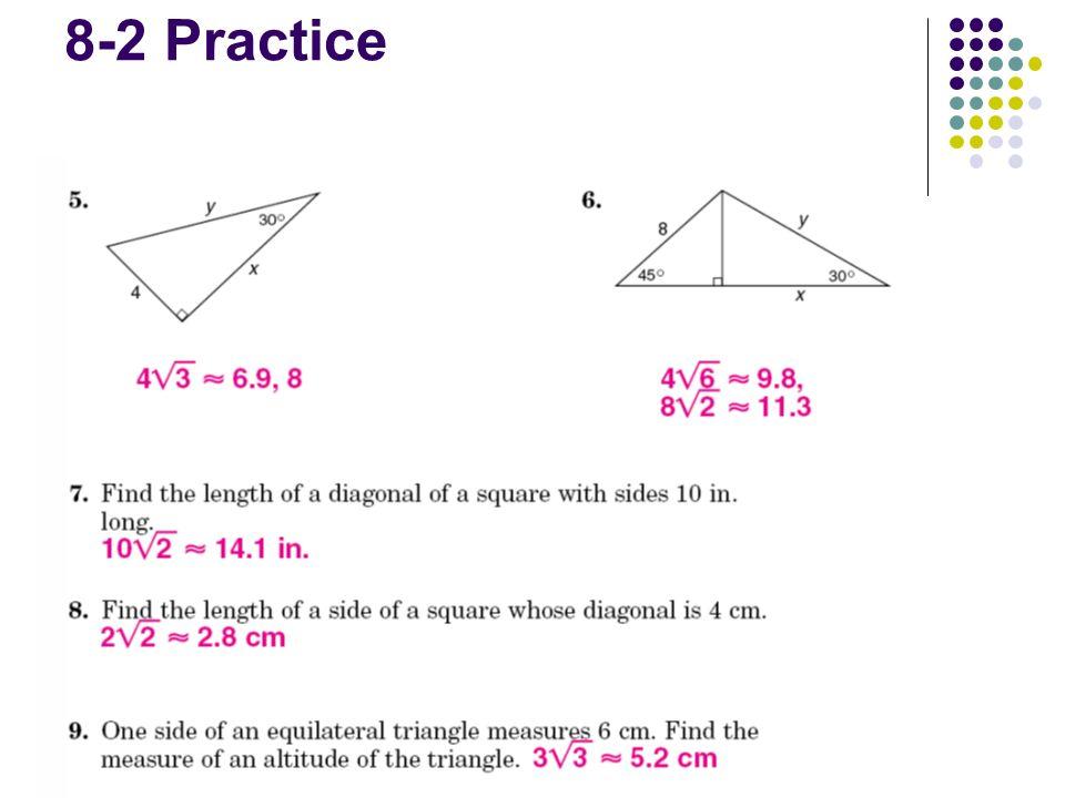 Warm Up Agenda Homework Review Section 8 3 Trigonometry Homework 8