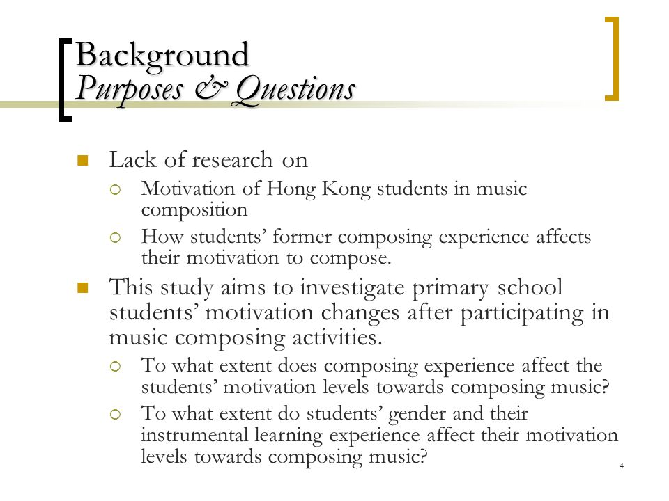 Factors affecting the motivation of Hong Kong primary school