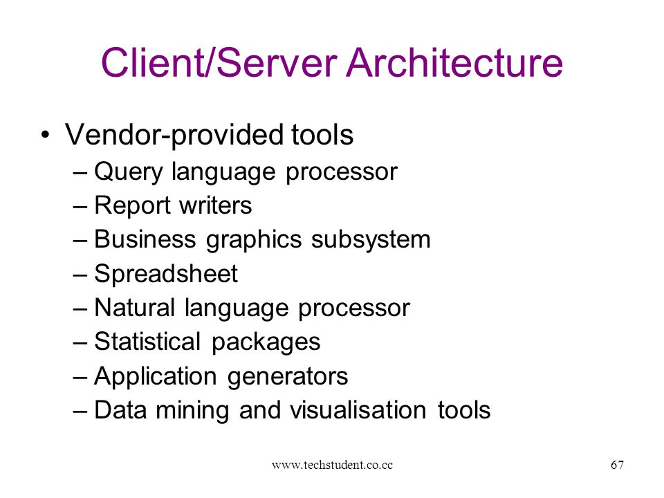Database Systems  Overall view Unit I – Architecture