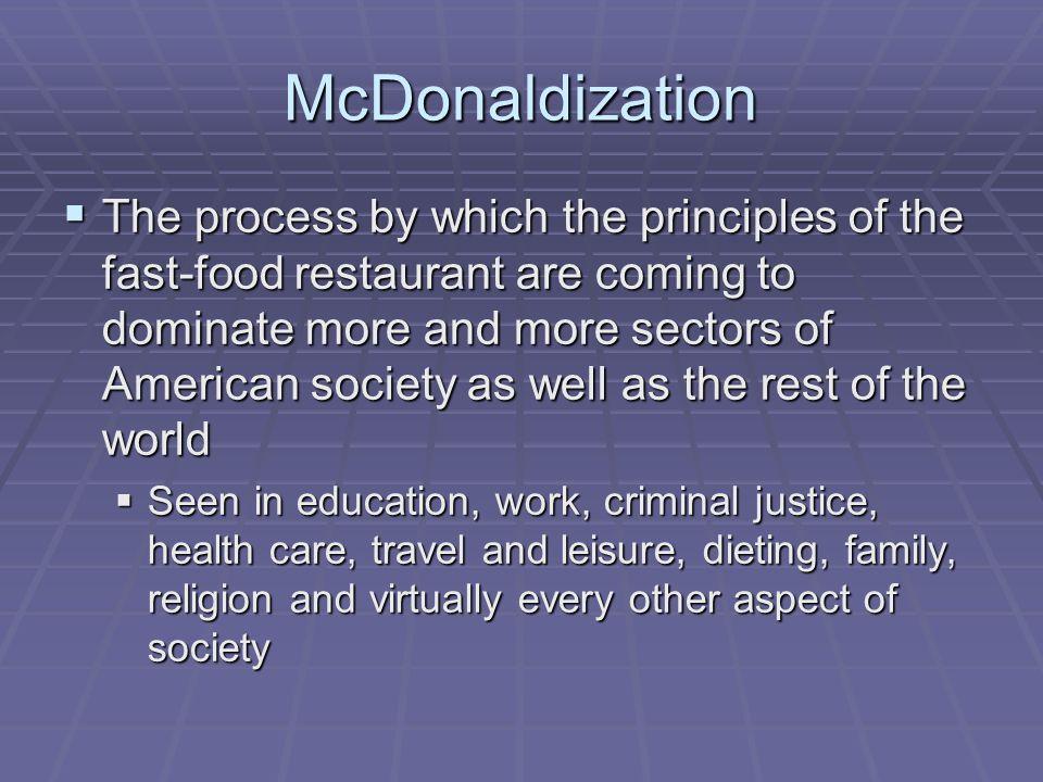 mcdonaldization of society definition