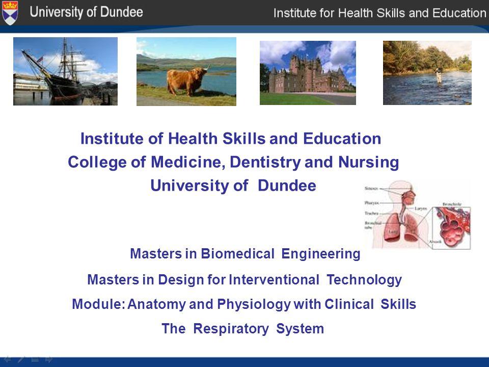 Institute of Health Skills and Education College of Medicine ...