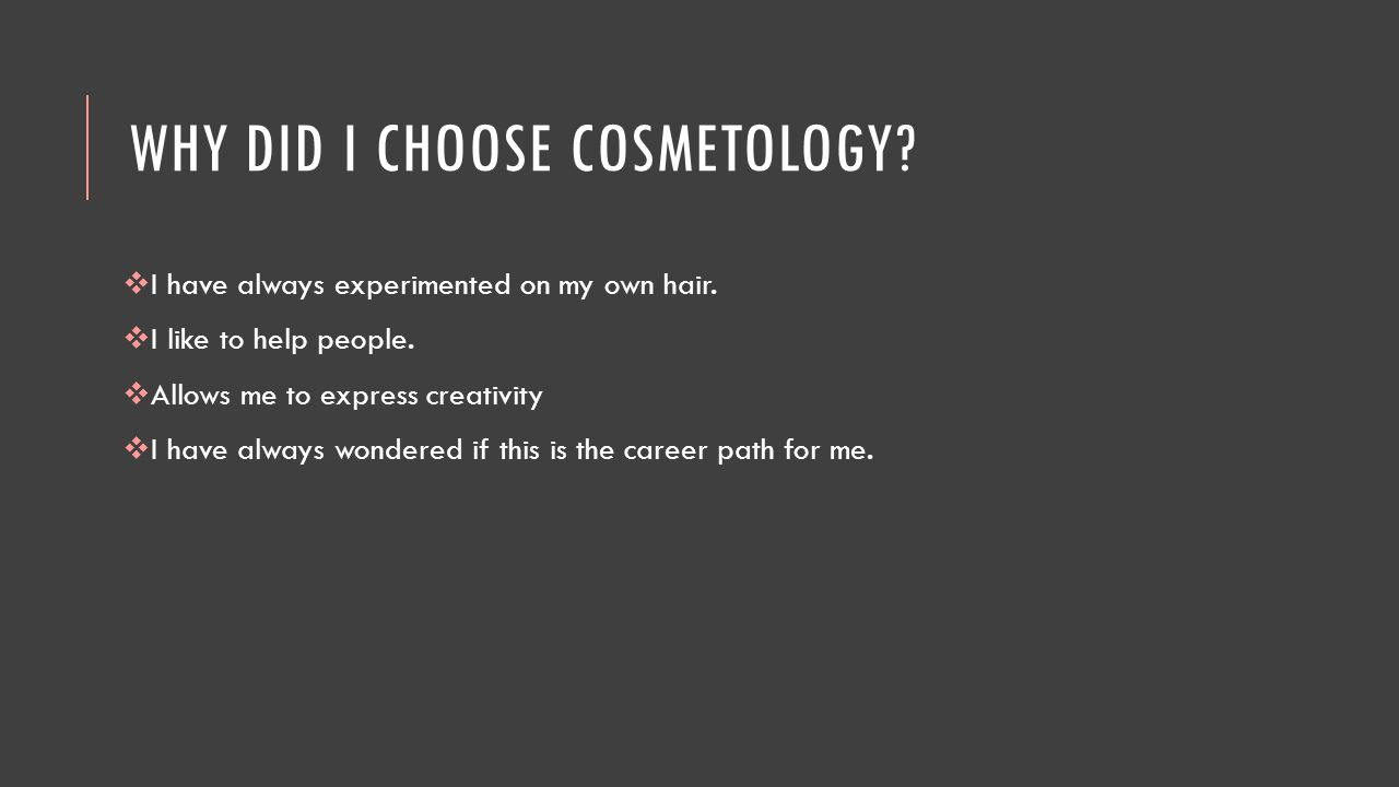 why choose cosmetology as a career essay