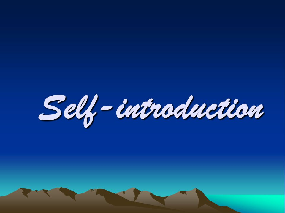 self introduction of a school student