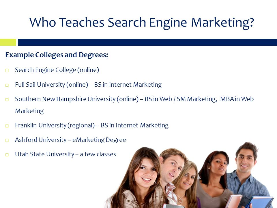 Who Teaches Search Engine Marketing.