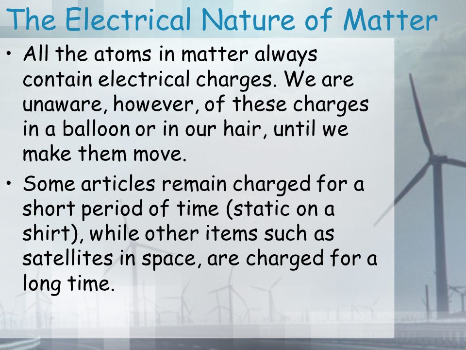 Electricity 9.2 The Electrical Nature of Matter. Electricity web ...